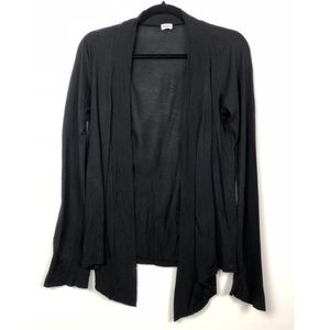 Splendid Black Very Light Jersey Cardigan